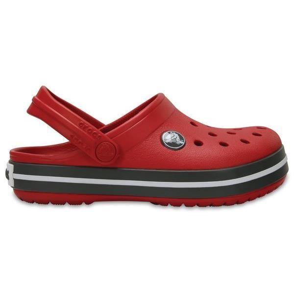 6050bcc2808 Crocs Crocband Enfant Clogs Chaussures Sandales en Rouge Pepper   Graphite  204537 6IB  Junior 2