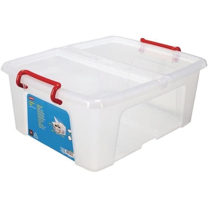 boite de rangement plastique transparente avec couvercle - achat