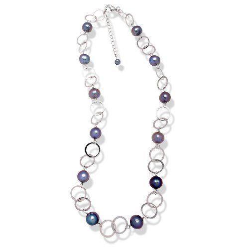 Valero Pearls - 290105 - Collier Argent 925/1000 - Femme - Perles Cultures dEau douce - 425 cm