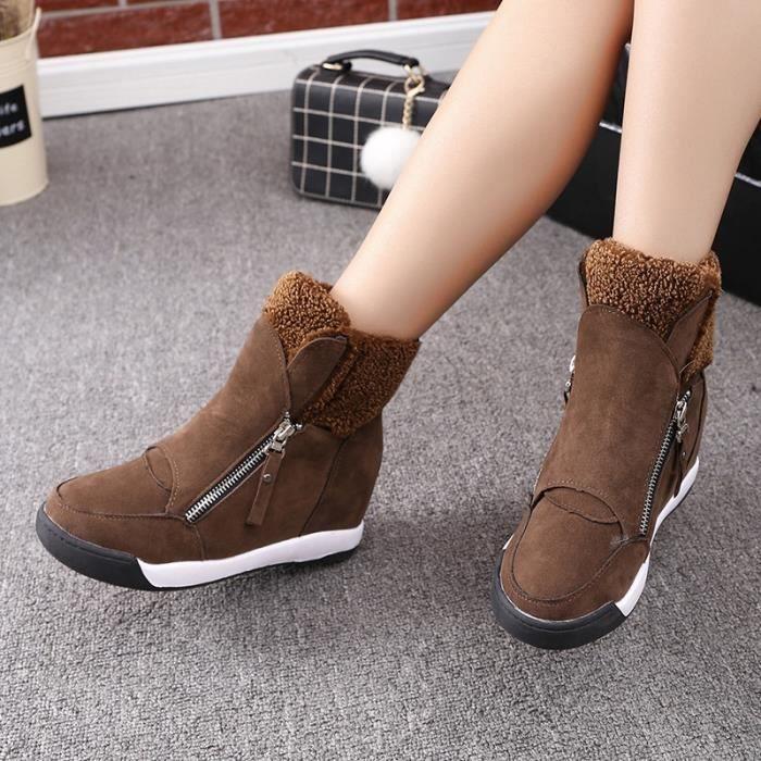 Les nouvelles bottes de cheville chaudes femmes fourrure de mode femmes bottes bottes de neige et les femmes automne hiver ESiJqMZ
