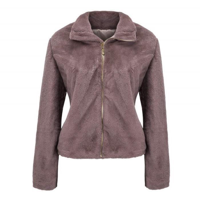 Long Parka Manteau Pleine Zipper Femme Couleur Épaissir Chaud Vêtements Veste Full Manchon Zip 5SpffPqw