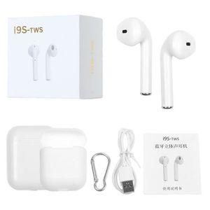 OREILLETTE BLUETOOTH Ecouteurs intra-auriculaires sans fil Bluetooth I9
