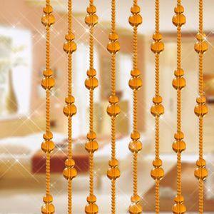 LANCE-RIDEAU Verre Gourd forme Perles cordes Tassel rideau Pann