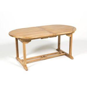 Table jardin bois exotique - Achat / Vente pas cher