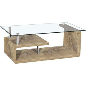 Table Basse Design Bois Et Verre Achat Vente Pas Cher