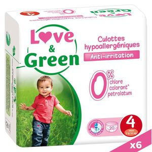 COUCHE LOVE AND GREEN Culottes T4 - 120 couches - Mega Pa