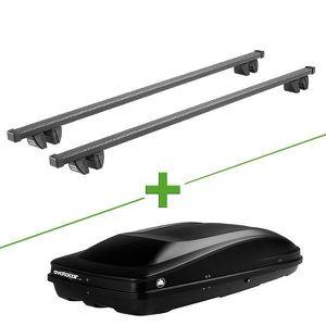 BARRES DE TOIT Pack barres et coffre de toit Cruz Oplus + Wabb L