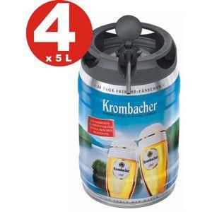 BIÈRE 4 x Krombacher Pils fûts fraîches, 5 litres de 4,8