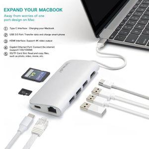 CÂBLE D'ALIMENTATION USB C Centre Letouch Adaptateur multi-ports 8 en 1