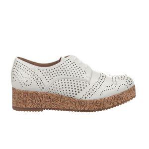 DERBY Chaussures à lacet femme - MAM'ZELLE - Ecru - RALI