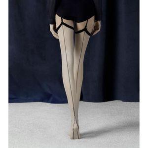 BAS - MIS-BAS Bas Voile Femme Motif couture Fiore Pour porte jar