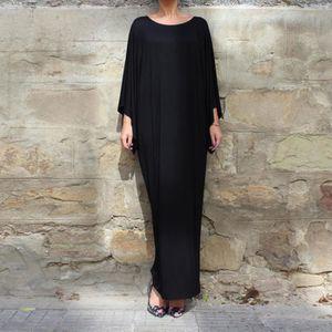 ROBE Mode féminine musulmane Rétro à manches longues él