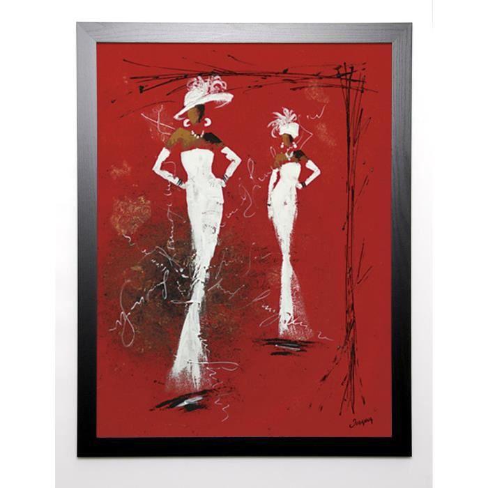 JOHANNA Image encadrée Défilé Haute couture II 67x87 cm Rouge