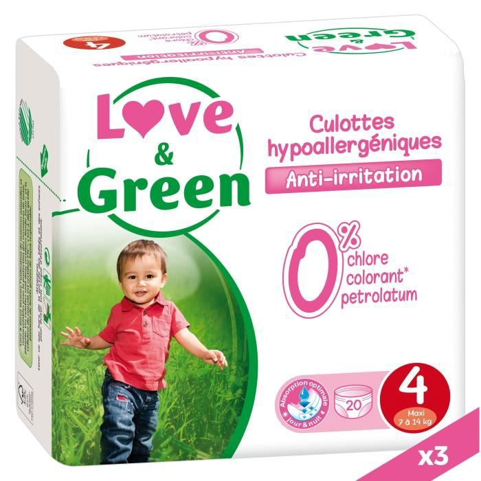 LOVE AND GREEN Culottes T4 - 60 culottes - Eco Pack