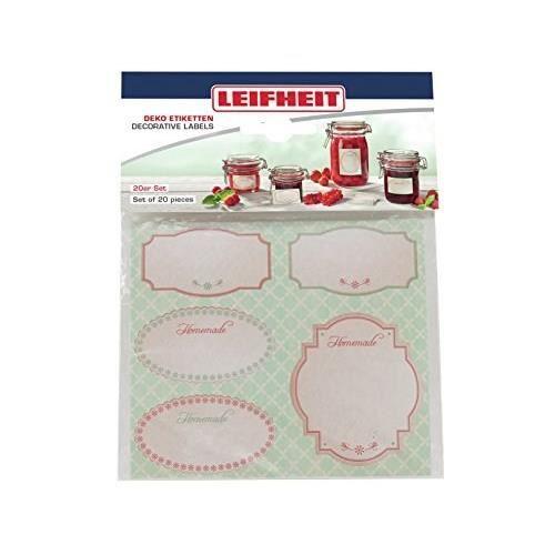LEIFHEIT Etiquettes de decoration pour bocaux - Pastel