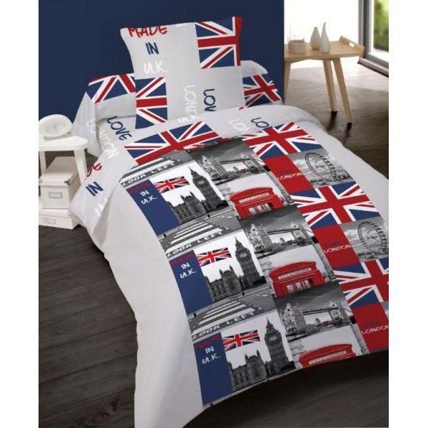 parure de lit london 1 personne - achat / vente parure de lit