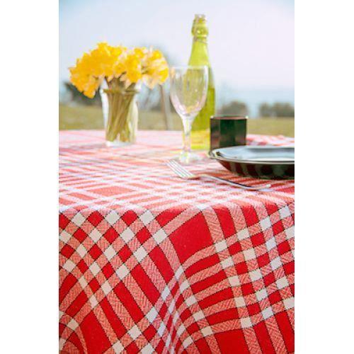 tissu ? nappe coton carreaux rouge et blanc - achat / vente nappe de