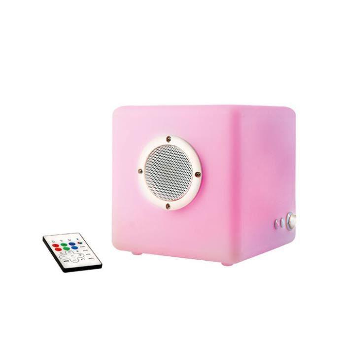 Cube Lumineux Haut-Parleur Bluetooth Lh72 - Achat / Vente Décoration