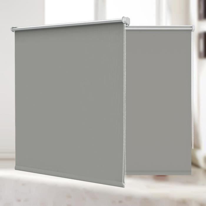 Store Enrouleur Occultant Thermique 120x150 Cm Gris Revêtement