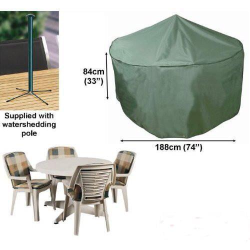 Housse pour salon de jardin rond 4 places confort 188cm - Achat ...
