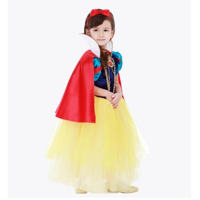 Costume d guisement enfant princess blanche neige robe avec cape achat vente d guisement - La princesse blanche neige ...