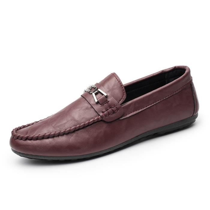 Homme Casual Mocassins cuir Chaussure Driving Chaussure Pois confortable, perméable à l'air Taille 39-44