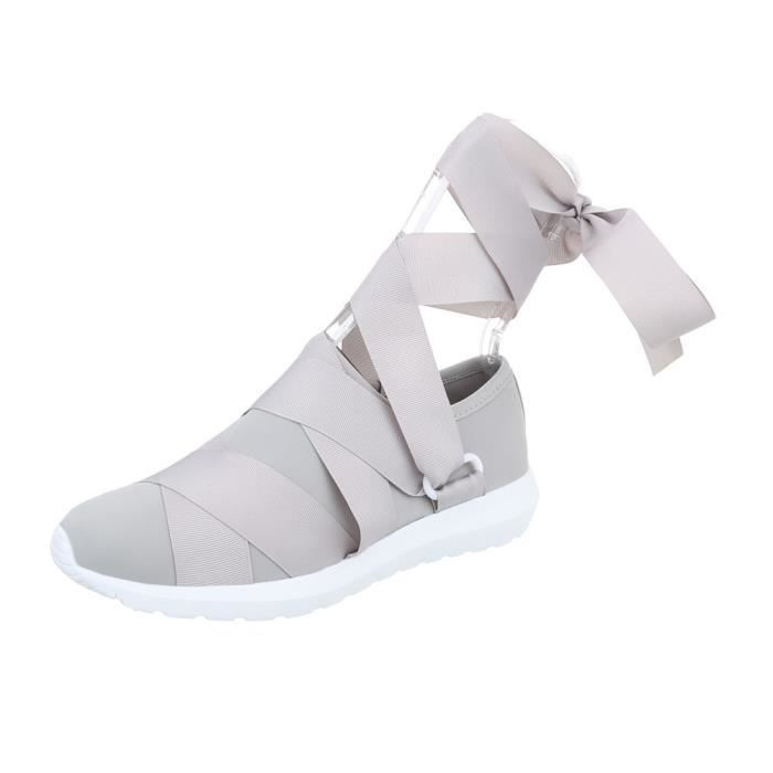 femmes chaussures Loisirs Chaussures Sneakers gris 38