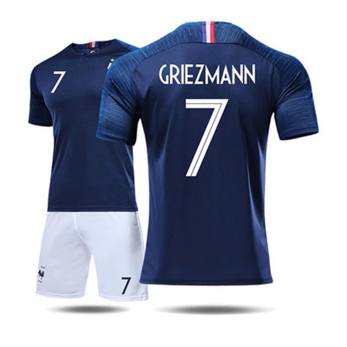 a37149f470673 GRIEZMANN 7 Maillot Equipe de france 2 étoiles - Maillot et Shorts de  football Adulte Homme Bleu