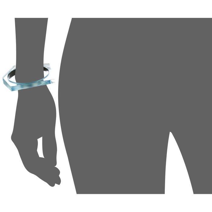 Asymmetrical Pentagon Bangle Bracelet QNTO4