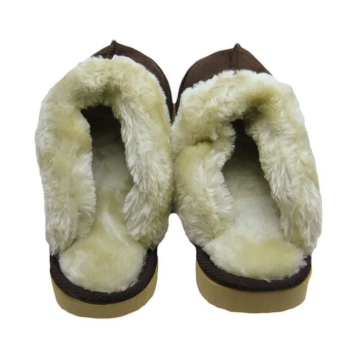 Soft & Plush Faux Scuff Slippers KQRKV Taille-38 vOkdi