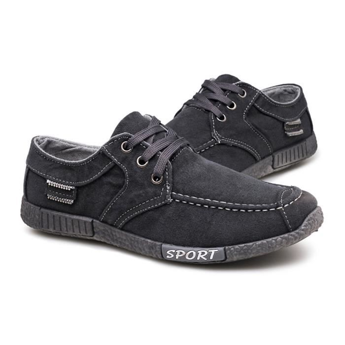 Moccasins homme Chaussures Denim Tissu Hommes Casual mode Chaussures Classique Confortable Chaussure nDViGn1