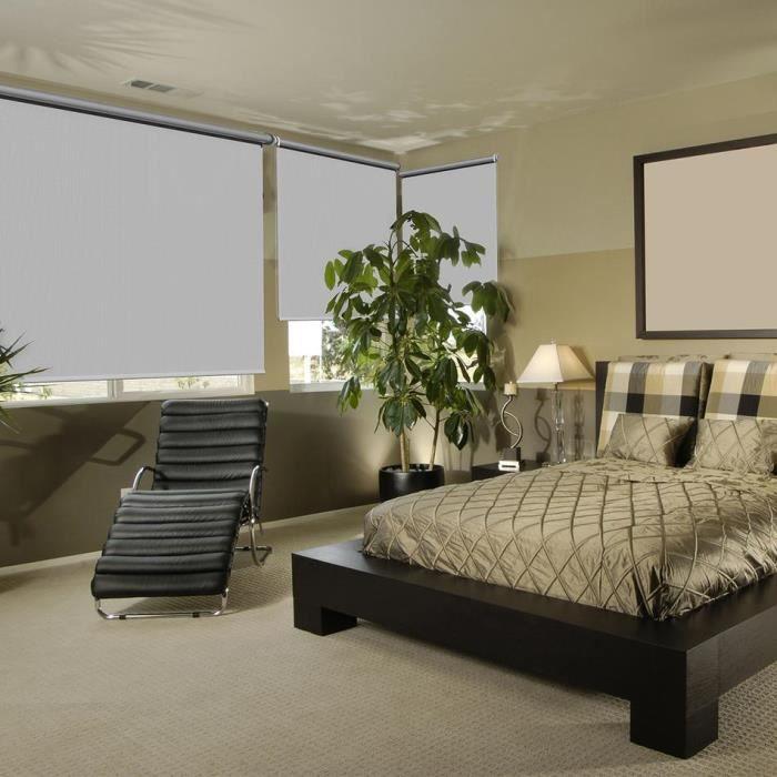 store enrouleur occultant thermique 120x150 cm gris. Black Bedroom Furniture Sets. Home Design Ideas