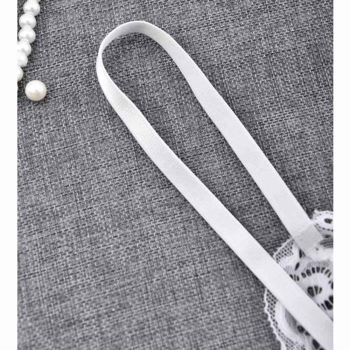 Nuit Dentelle De En vêtements Free string Sous G Sexy Babydoll blanc Lingerie Femmes gorge Soutien zXw4Fvq