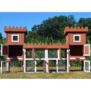CLAPIER Cage Clapier Enclos lapin Extérieur en bois de hau