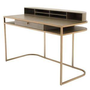 bureau marron achat vente bureau marron pas cher cdiscount. Black Bedroom Furniture Sets. Home Design Ideas