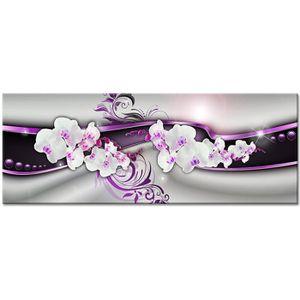 TABLEAU - TOILE Tableau Déco Abstrait Fleurs - Abstrait  - 80x30 c