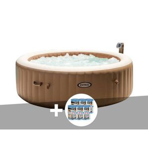 SPA COMPLET - KIT SPA Kit spa gonflable PureSpa rond Bulles 6 pl + 12 ca