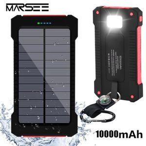 BATTERIE EXTERNE Chargeur solaire 10000mAh,  Dual USB Portable Powe