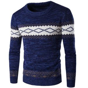 PULL Pull homme col rond d'hiver casual Mélange de coto