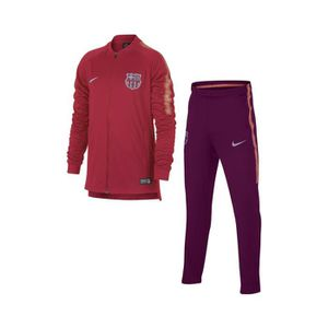 TENUE DE FOOTBALL Survêtement Entraînement Barça Squad Rouge-Violet