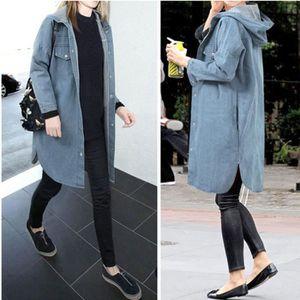 6fb80dd7fe87 MANTEAU - CABAN Femmes Parka Plus Size Casual capuche Denim veste ...