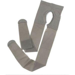 COLLANT Collants sexy gris ouvert à l'entrejambe devant et