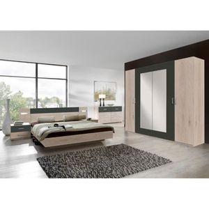 Chambre a coucher complete lit avec led - Achat / Vente pas cher