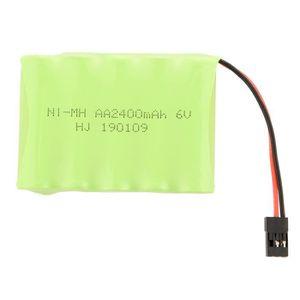 BATTERIE VÉHICULE Paquet plat de batterie récepteur 6V 2400mAh AA Ni