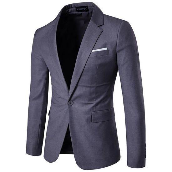 D'affaires Mode Casual Slim Mariage Homme Costume Seul Bouton Blazer Veste De a6TvqZcAwE