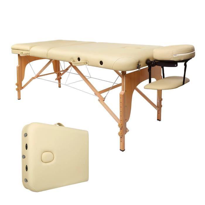 Lit Housse Keke Hauteur Beige Massage 80cm 185x70cm Table Avec Pliable De Transport Réglable 60 nw0OP8kX
