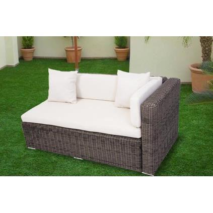 canap de jardin type m ridienne en r sine tress e achat vente fauteuil jardin canap de. Black Bedroom Furniture Sets. Home Design Ideas