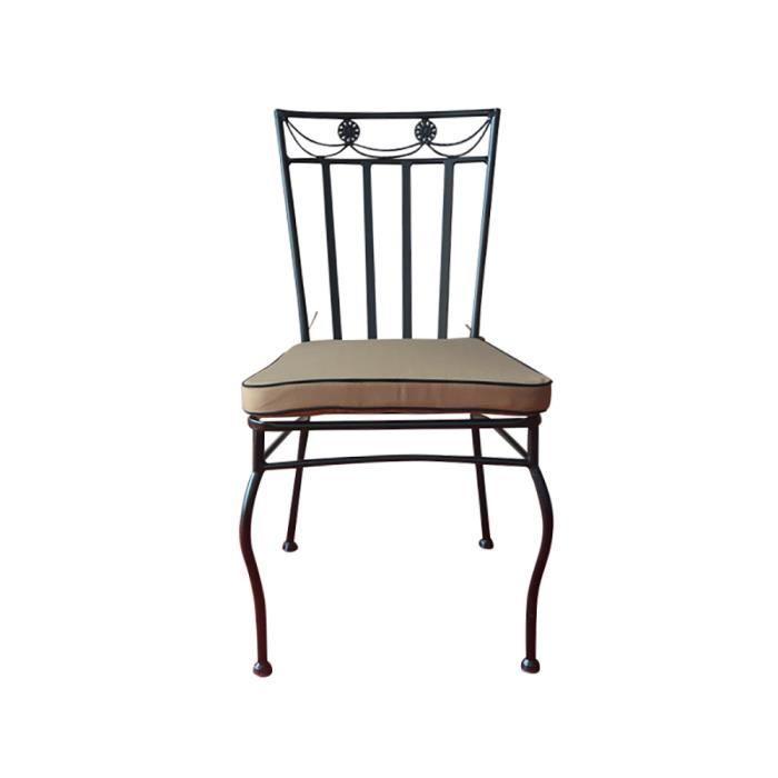 chaises en fer forge noires - achat / vente chaises en fer forge
