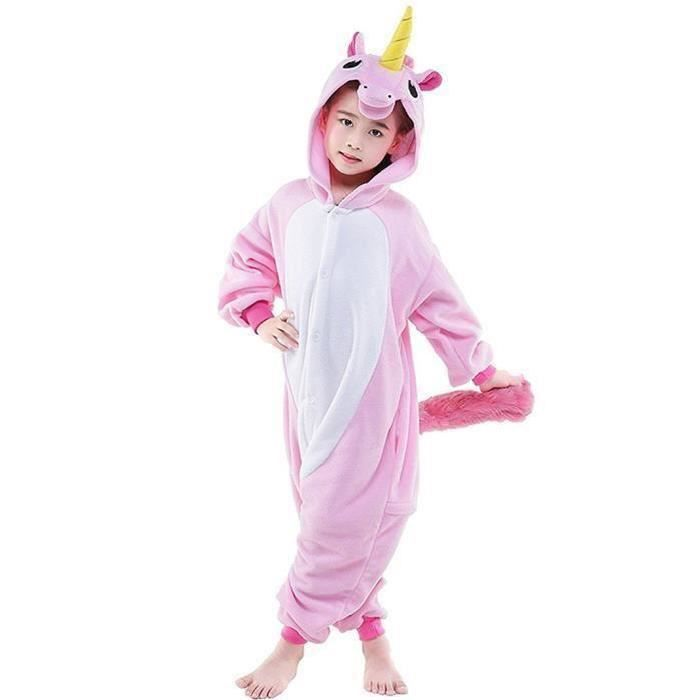Kigurumi Pyjama Enfant Déguisement Licorne Combinaison Grenouillère