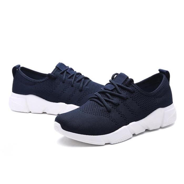 Chaussure Course A Pied Confort Lacets Coussin D'Air D'éTé Homme Bleu 43 R85733643_T33